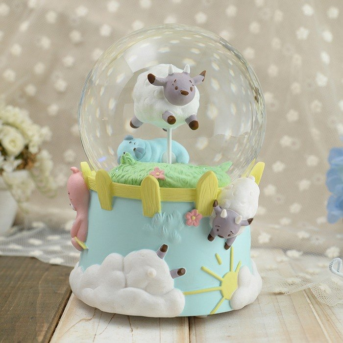 Cute series - leisurely afternoon crystal ball music bell Valentine's Day gift relief pressure healing home decorations