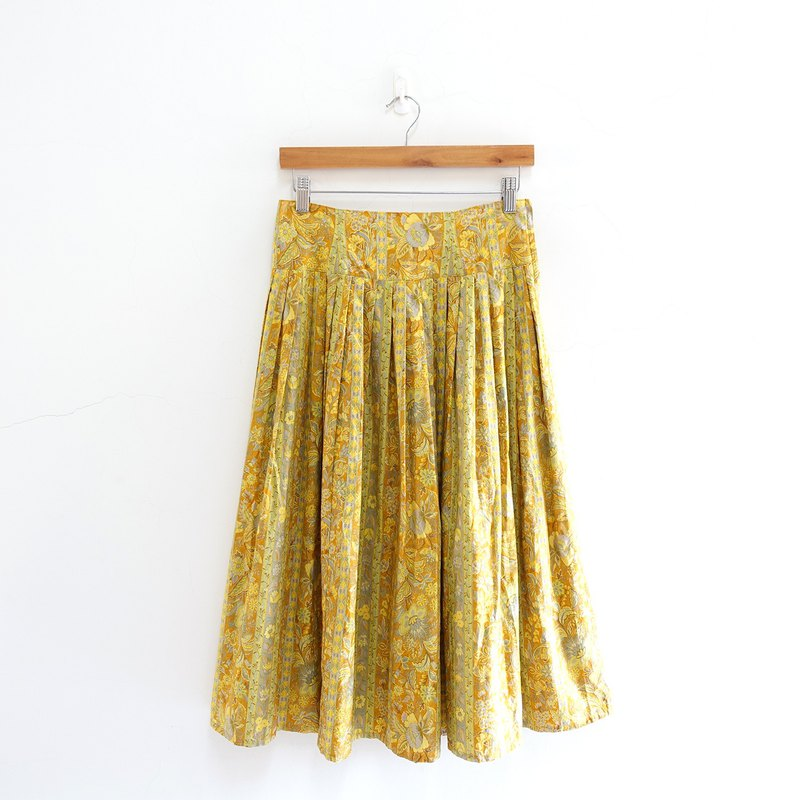 │Slowly│Golden Flowers-Vintage Dress│vintage.Retro.Literature