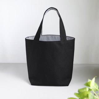 [Classic Stripe Meets Canvas] Tote Bag / Lunch Bag Bag