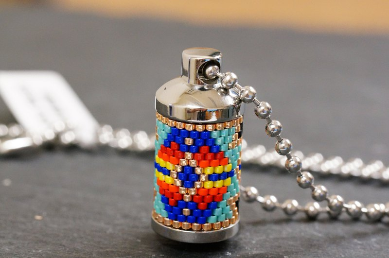Aiko Bead Stainless Steel Aroma Jar Necklace