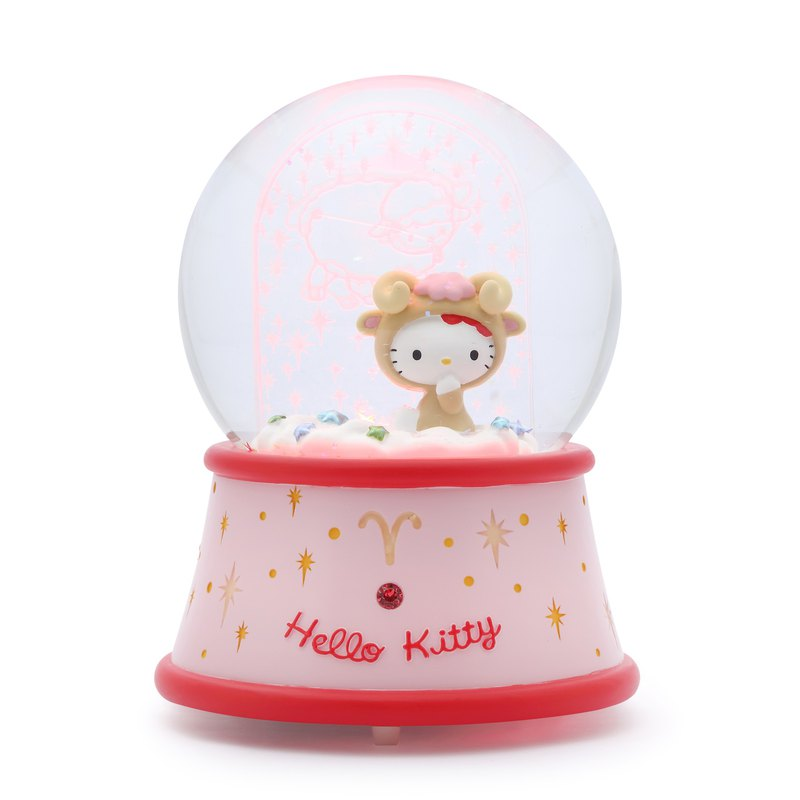 Hello Kitty Aries Crystal Ball Music Box Valentine's Day Birthday Gift Moon Gift
