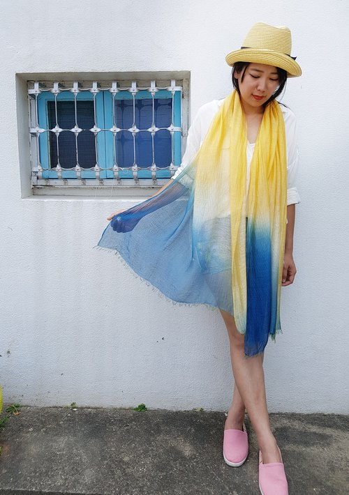 The light silk cotton fringed scarf long temperament wild air-conditioned room good gift