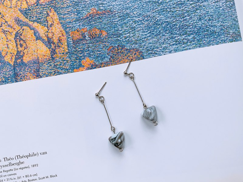 Camouflage | Marble Earring Ear Clip