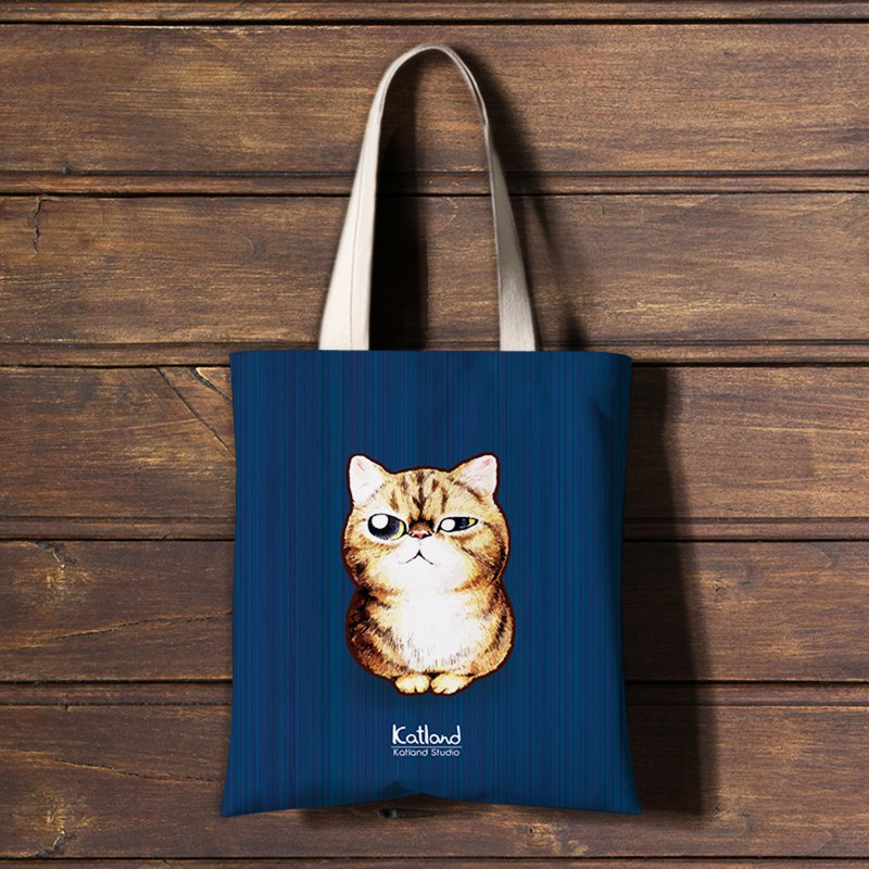 Exotic Shorthair and owl  tote bag - K01