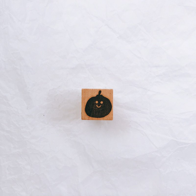 S number - small orange handmade seal