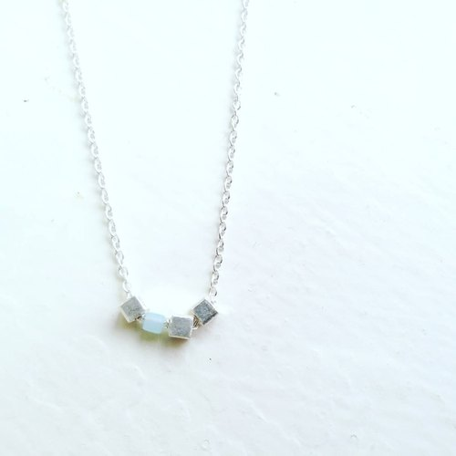 Necklace(Silver,Artificial crystal)