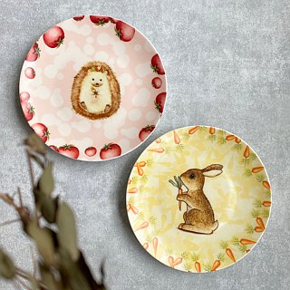 6.5 inch bone china plate - healing hedgehog (for customization can add custom name) / porcelain plate painting / bone china / microwave / through SGS