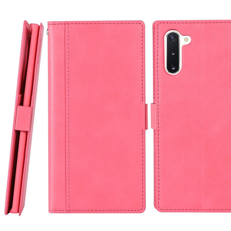 CASE SHOP SAMSUNG Note 10 Storage side 掀 standing leather case - peach (4716779661040