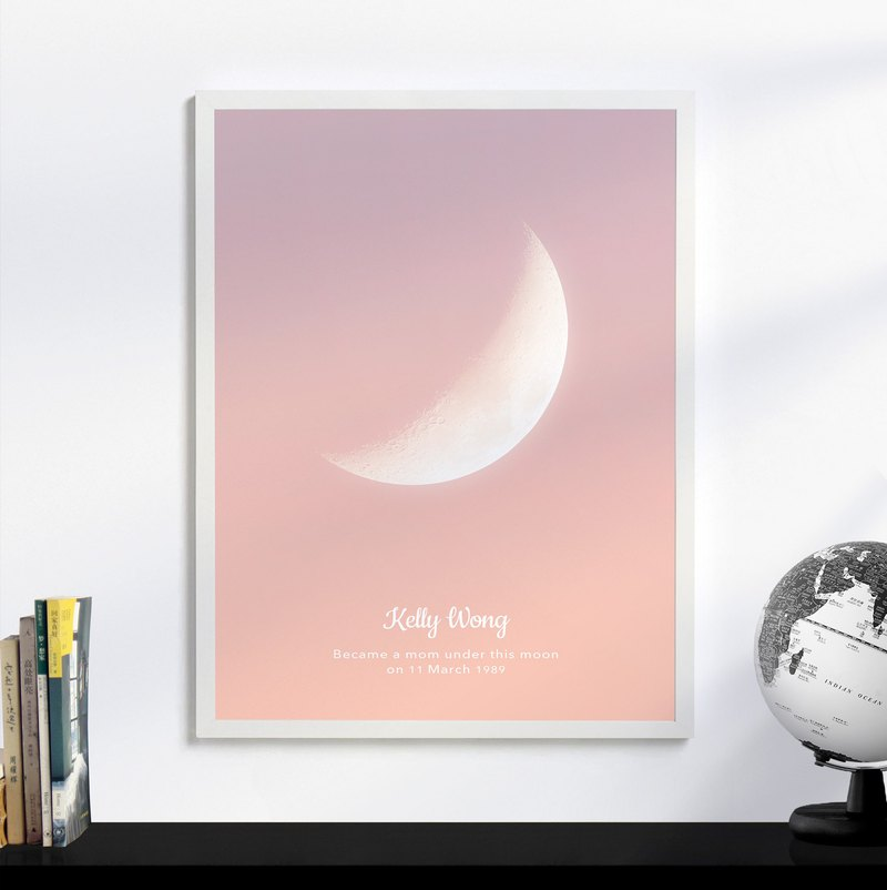 Glow Moon Print, Moon phase Art, Unique Wedding Anniversary Gift for him her