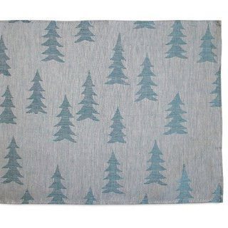 Nordic style designer – fir table mat (pink blue) Gran Place Mat, Blue / Powder