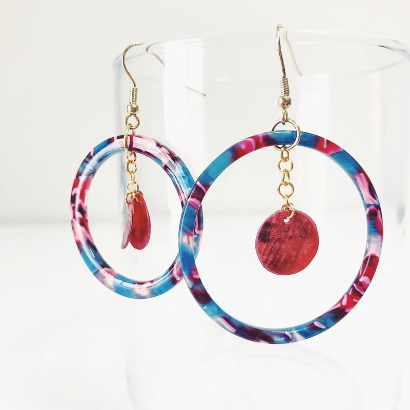 Different _ asymmetrical earrings × natural stone series
