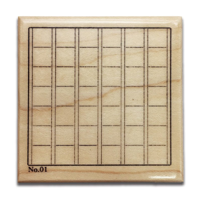 KEEP A NOTEBOOK Wooden Rubber Stamp CKN-031E_Grid