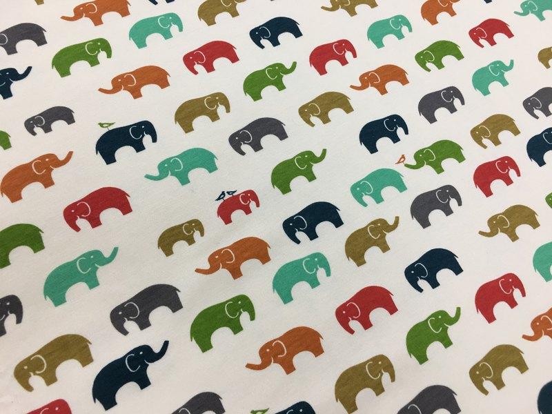 Exclusive order for circusmonkey1984-gujui small elephant organic cotton baby blanket