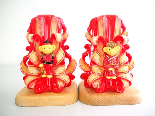 Handmade carved candle (6 inch) - Perfect chinese wedding gift idea
