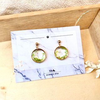 [Hua Xianyue] Qingbi color dry flower series earrings (can be changed ear clip)