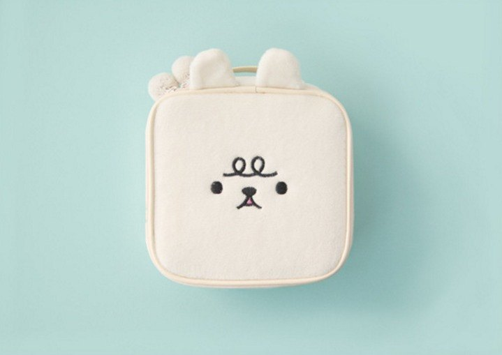 Bentoy x Plush Animal - Large Capacity Cosmetic Bag (White)