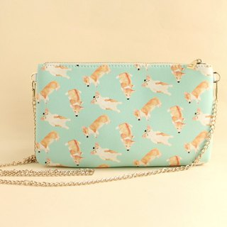 Bau Bau Corgi Dog 2 Way Purse-Crossbody/ Clutch