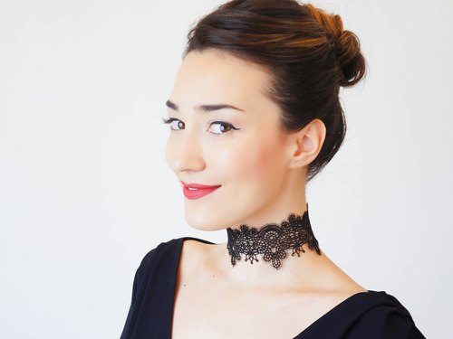 Clothing Gift Black Lace Choker Black Choker Tattoo Choker 90s Choker Gothic Choker Steampunk Choker Black Lace Necklace Gift for Her/ SANSA