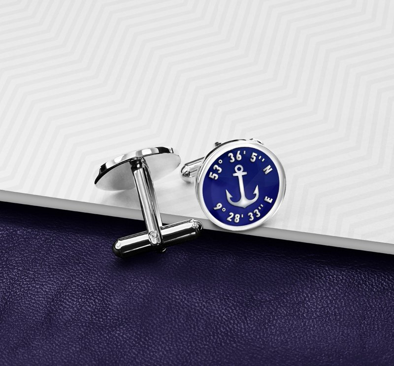 Anchor Cufflinks for Groom, Marine Cufflinks Wedding, Navy Cufflinks silver 925