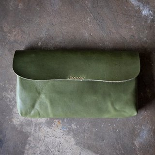 Leather Long Wallet / Olive Green