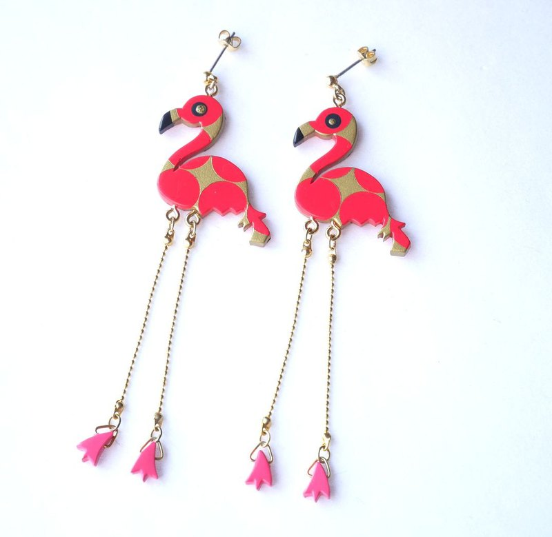 Flamingoes Pierce/Earrings