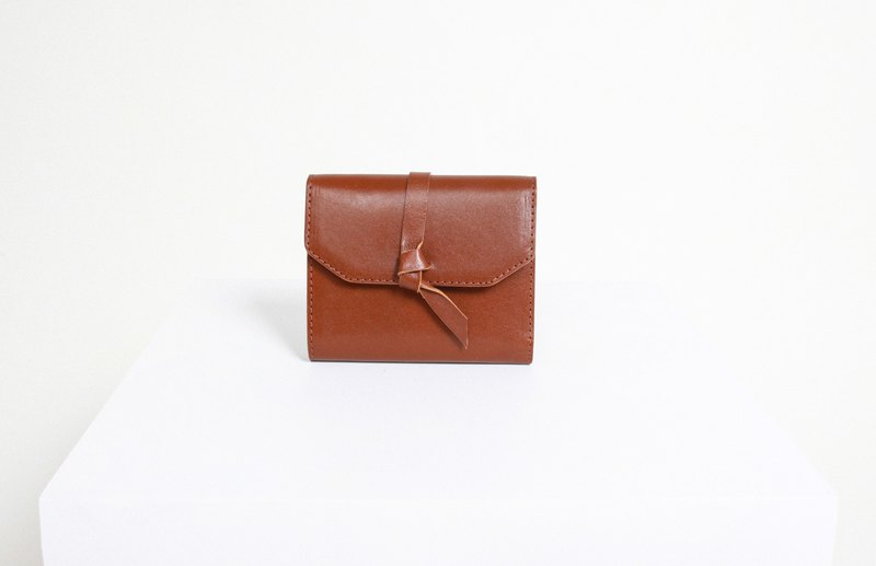 Knot Wallet | Tanned Brown/Black/Card/ wallet