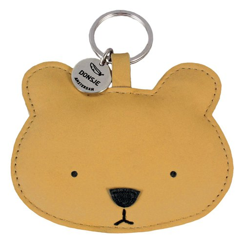 Donsje leather animal key ring bear 0617-ST018-NL01J