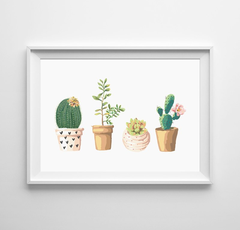 Cactus can be customized poster