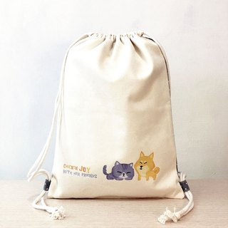 Fat Cat and Shiba Inu / little / bundle after opening backpack