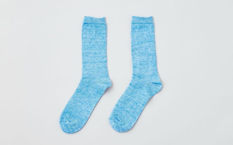 Linen knit socks (Sky Blue) Women