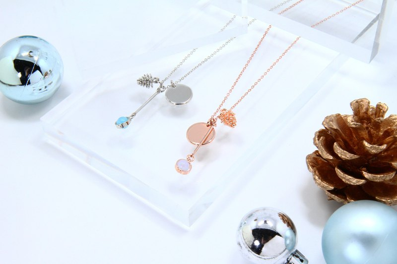 Illusions Magic Mirror Necklace / Rose Gold & Silver