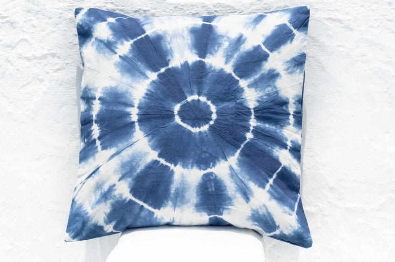 Blue dye hug pillowcase / cotton hug pillowcase / printed hug pillowcase / indigo blue dye hug pillowcase - blue dyed stars