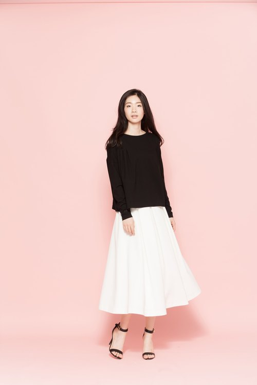 Square long-sleeved shirt 122F005