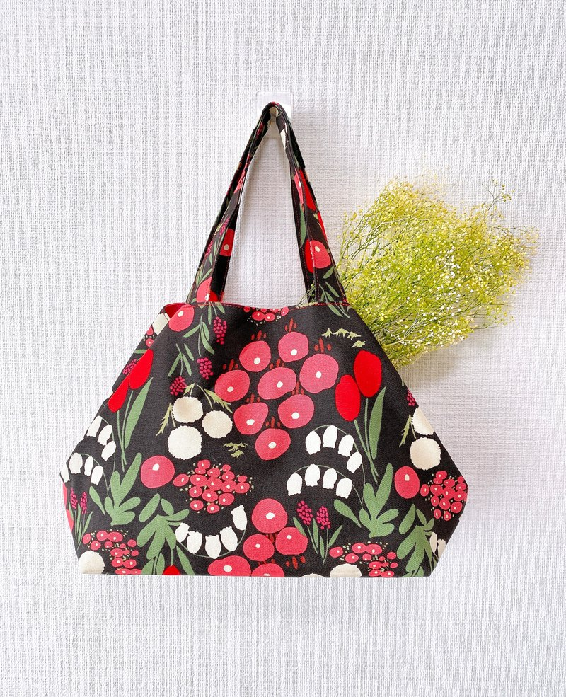 2020 Japanese style tote bag / red envelope cherry