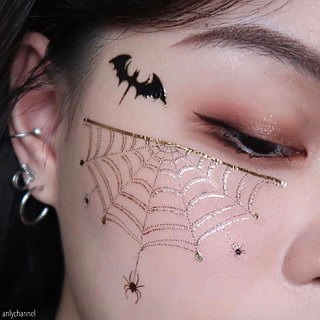 :: Tattoo / Tattoo Sticker :: Halloween Hannah Spider 2 In Original Hand-painted | PAPERSELF