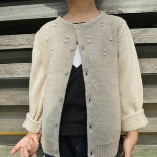 TiDi khaki knitted wool coat