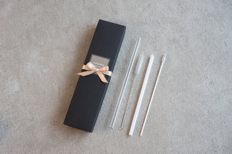 Eco-friendly Glass Straws (Set) Free S/H for HK MO TH