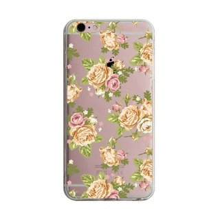 British custom yellow rose transparent Samsung S5 S6 S7 note4 note5 iPhone 5 5s 6 6s 6 plus 7 7 plus ASUS HTC m9 Sony LG g4 g5 v10 phone shell mobile phone sets phone shell phonecase