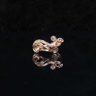 Winwing wire braid Ring - Ring [betta]. Commemorative ring. Valentine's Ring