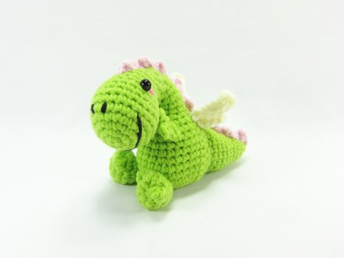 Dinosaur - Green Charm Baishi key ring
