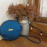 【柬式生活】限量純手工柬埔寨製作 Biscuit Round Bag 手工絲綢圓包