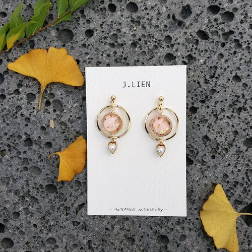 Falling colorful series - cherry ear / ear clip handmade earrings Korea direct delivery