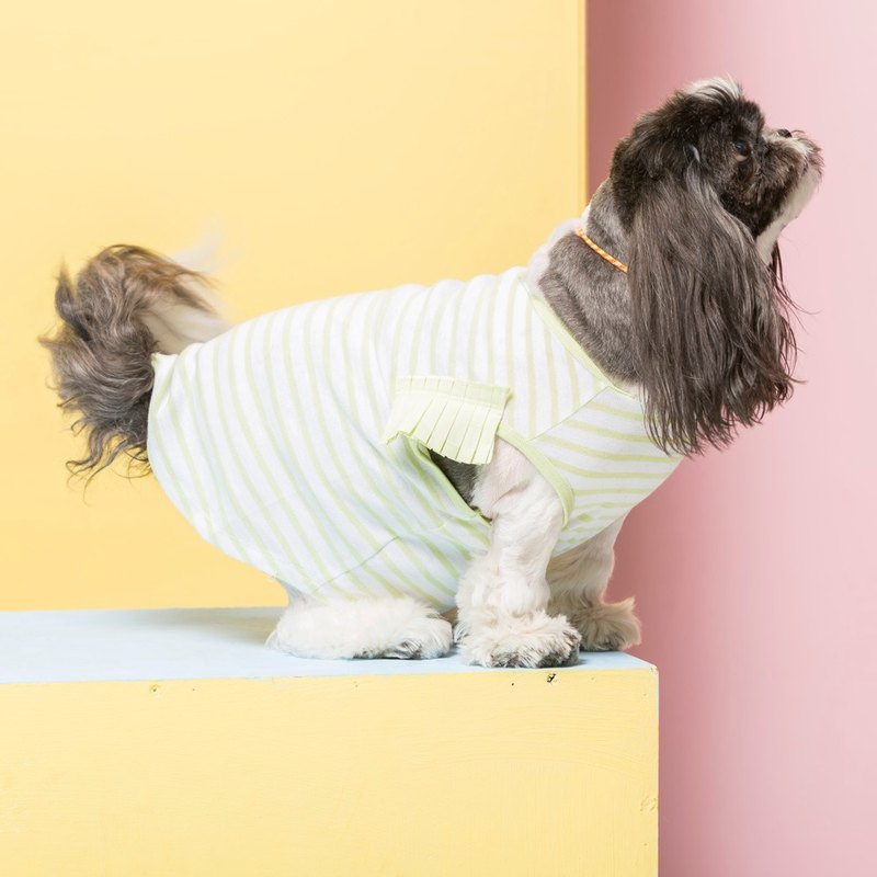 Striped three-dimensional discount modeling pet clothes - widened version
