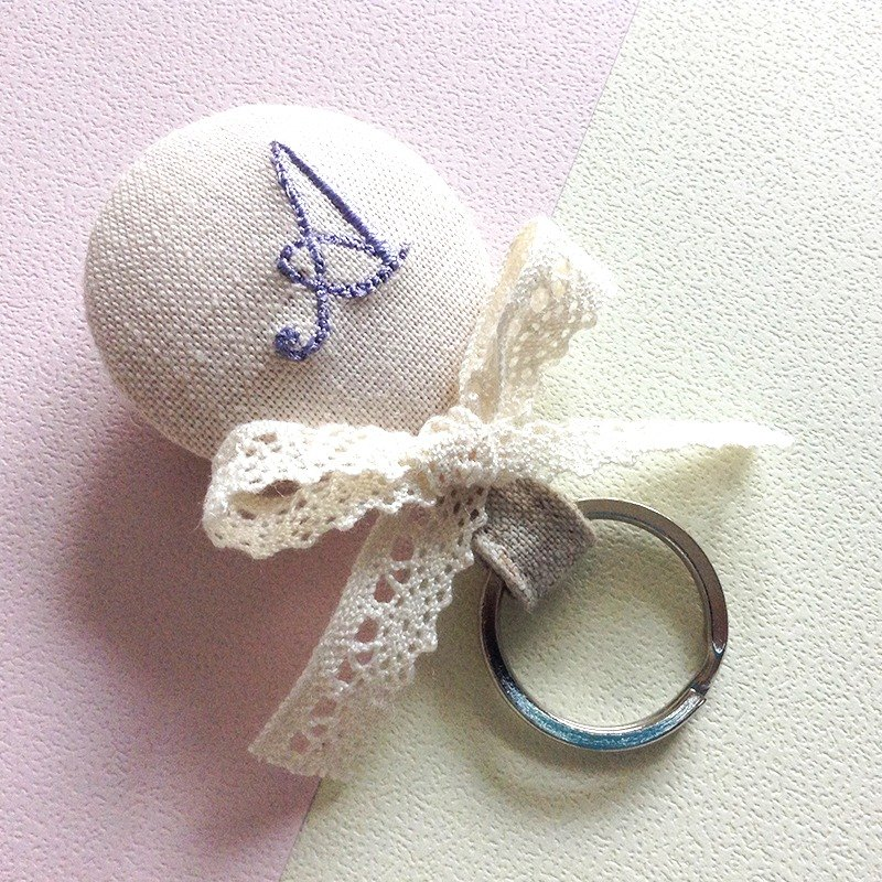 Sweet candy magnetic key ring / custom embroidery word / wedding small things / sister gift