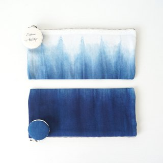 S.A x Spruce Forest, Indigo dyed Handmade Natural Pattern Pencil Case