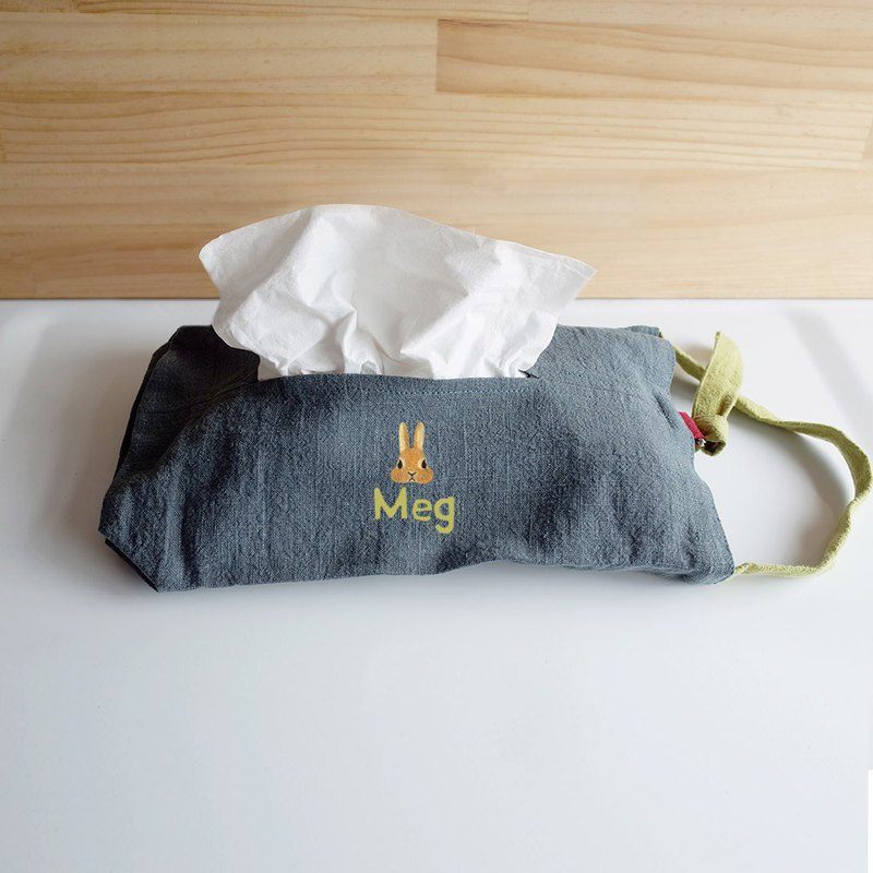 [Q-cute] face carton cover series - cotton and linen - dog head, cat head, rabbit head - plus word / customized