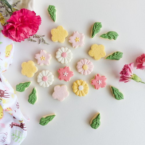 Sugar Cookies • Mini Flower World Handmade Design Cookies 3 Pack Set