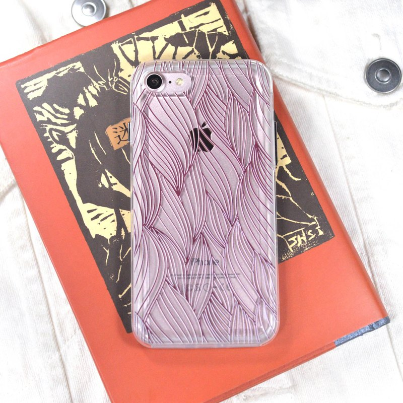 Japanese Kanagawa style mobile phone [interwoven love] iPhone 8 Plus U11 V20