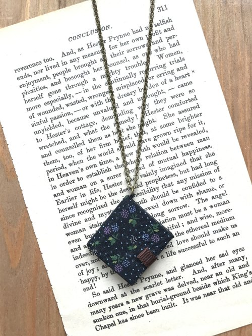 Mini Book Necklace| Floral Prints