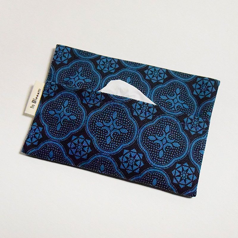 Tissue Paper Sleeve / Begonia Glass Pattern / Midnight Navy